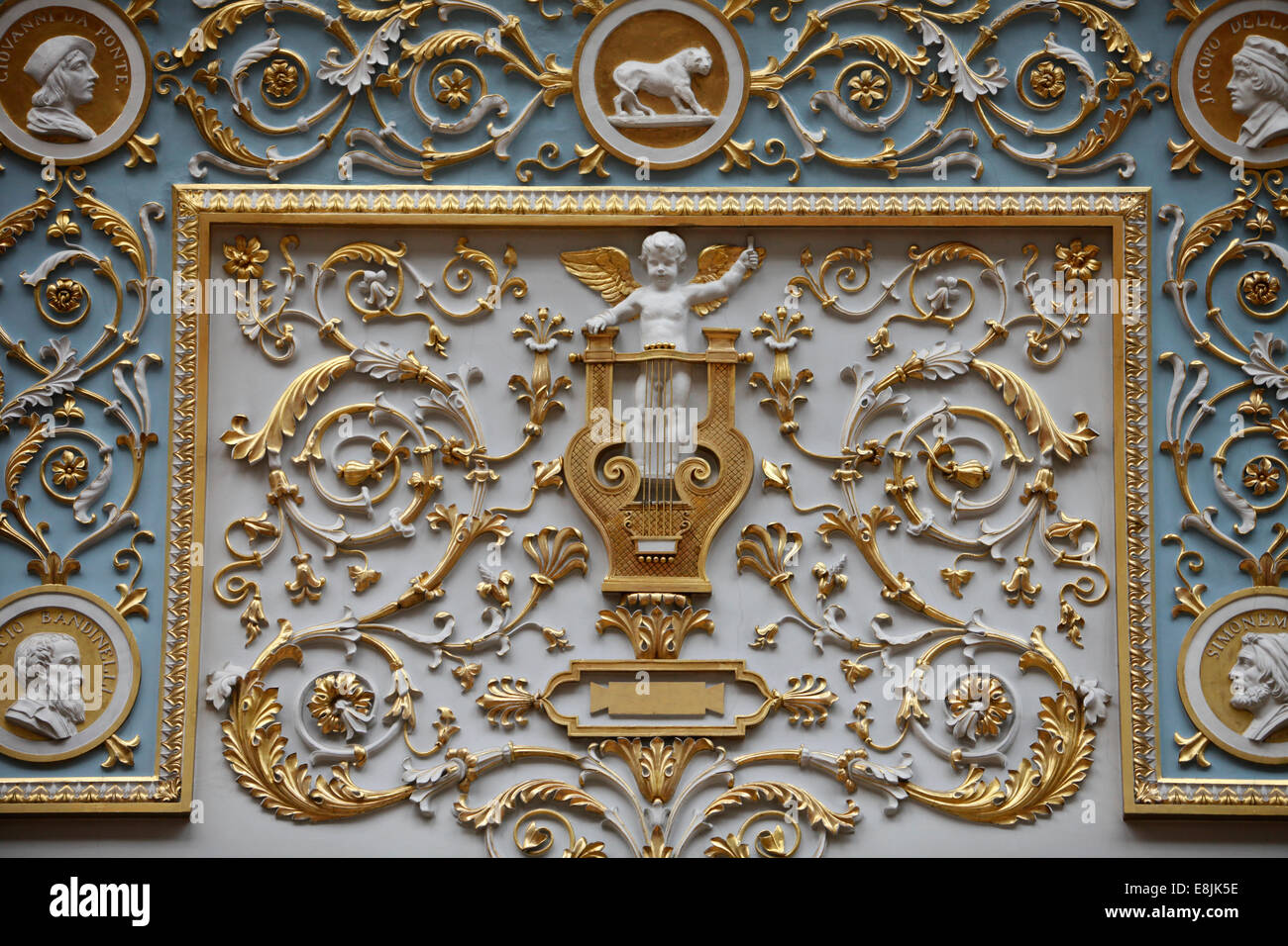 Hermitage Museum. Glass room art work - Stock Image
