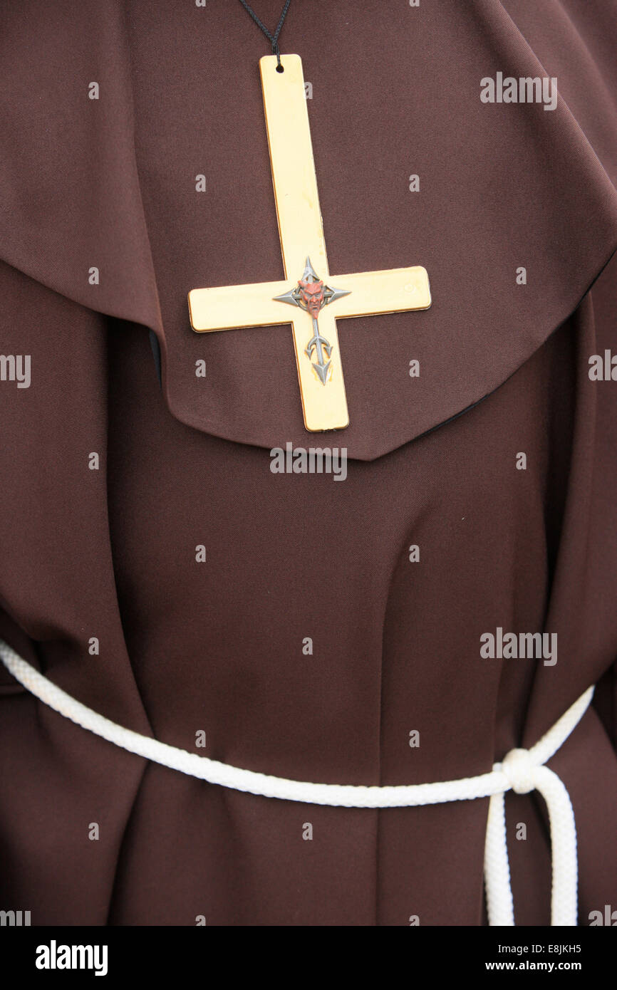 Inverted Crucifix Symbol Of The Devil And The Antichrist Stock Photo