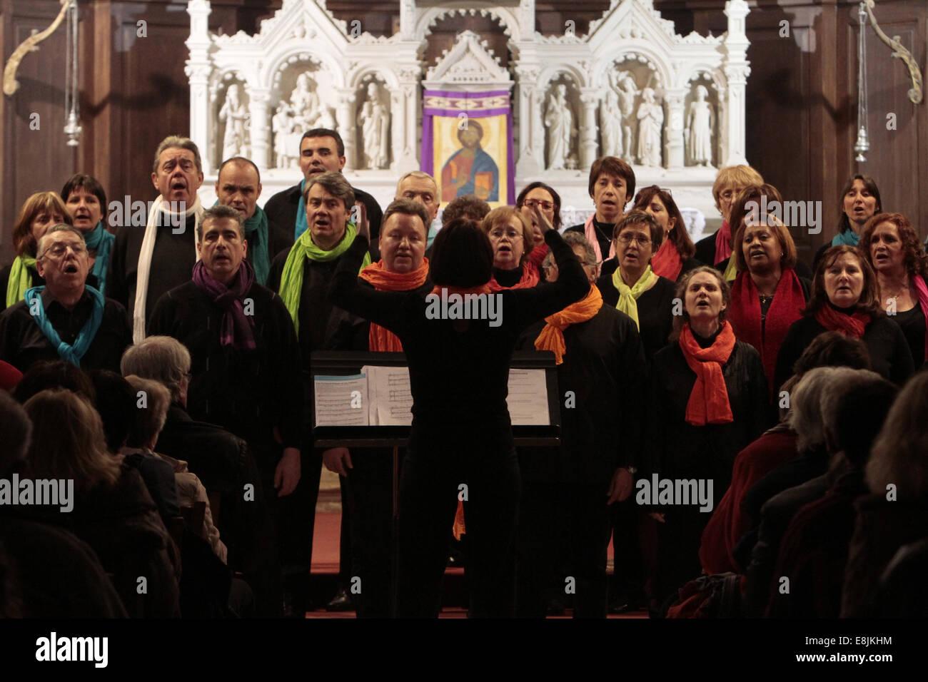 Chorale 'Helping Choir'. St. George Church. - Stock Image