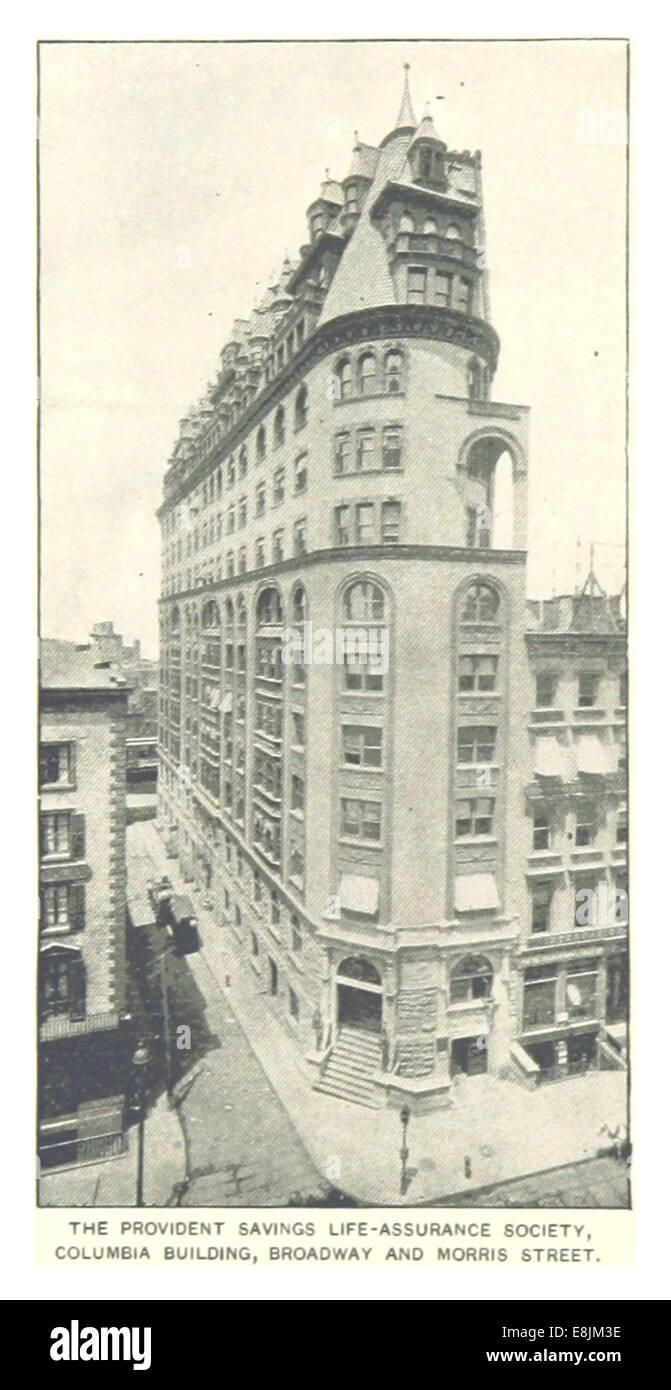 (King1893NYC) pg686 THE PROVIDENT SAVINGS LIFE-ASSURANCE SOCIETY, COLUMBIA BUILDING, BROAD WAY AND MORRIS STREET - Stock Image