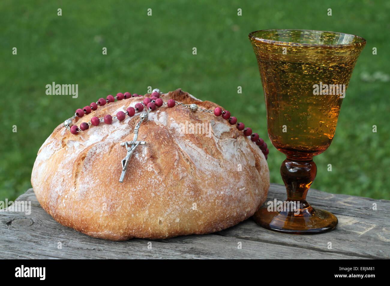 Lent. Share bread. - Stock Image