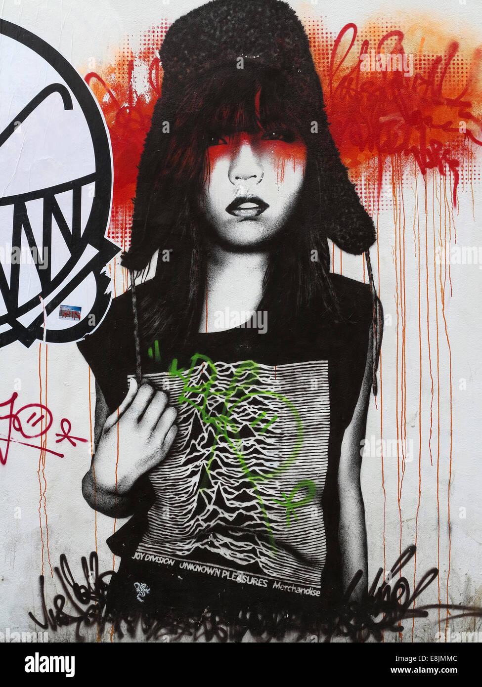 London street art - Joy Division - Stock Image