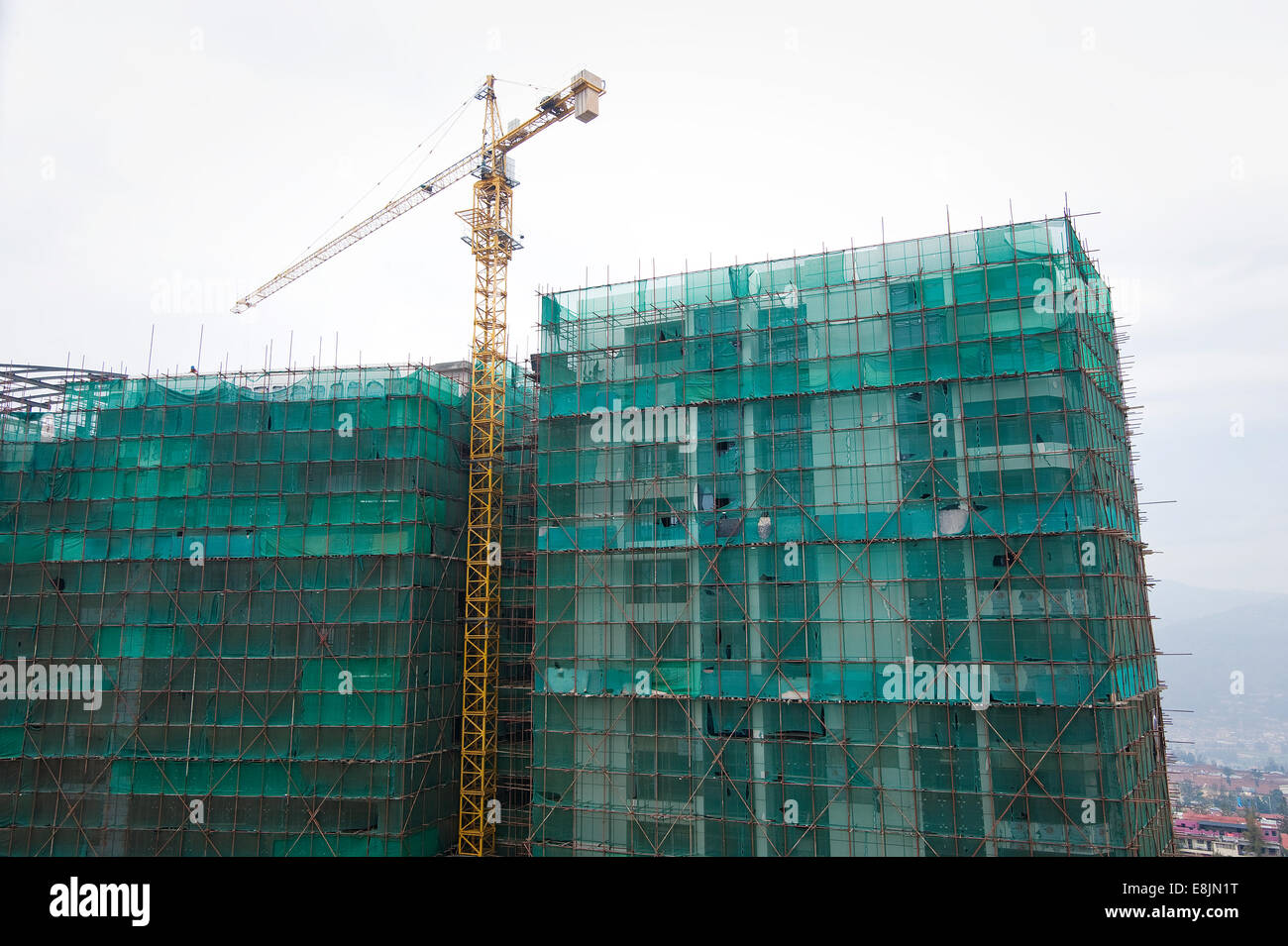 RWANDA, KIGALI: There are many construction sites in the capital city. - Stock Image