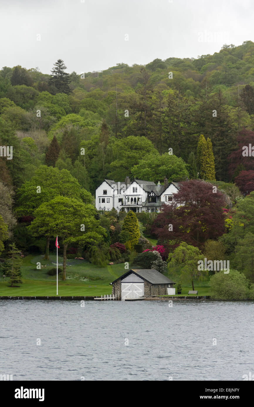 Blakeholme Wray on the shore of Lake Windermere, former  home of John Fisher wo organised the boats for the Dunkirk - Stock Image