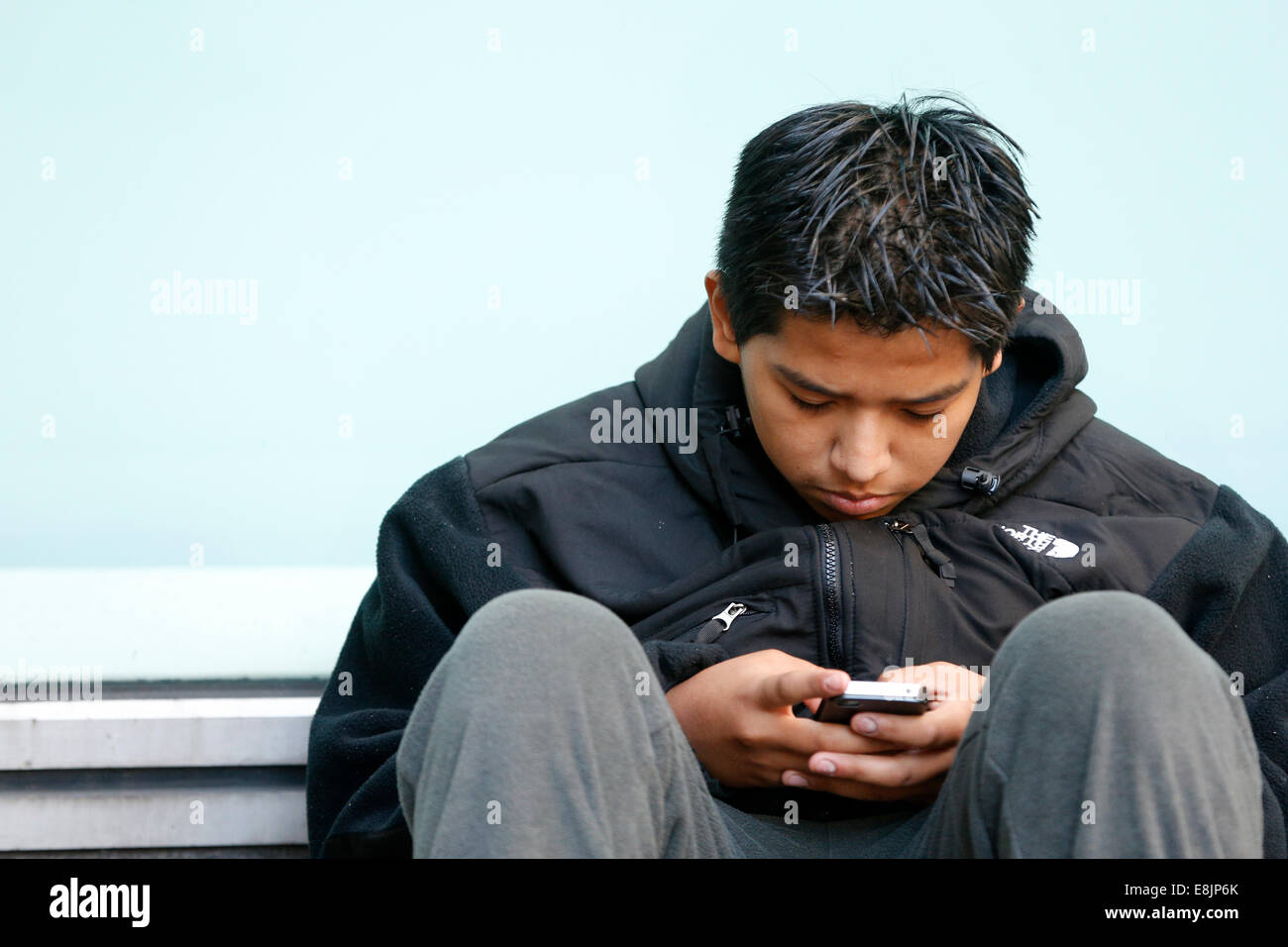 Mobile phone user - Stock Image