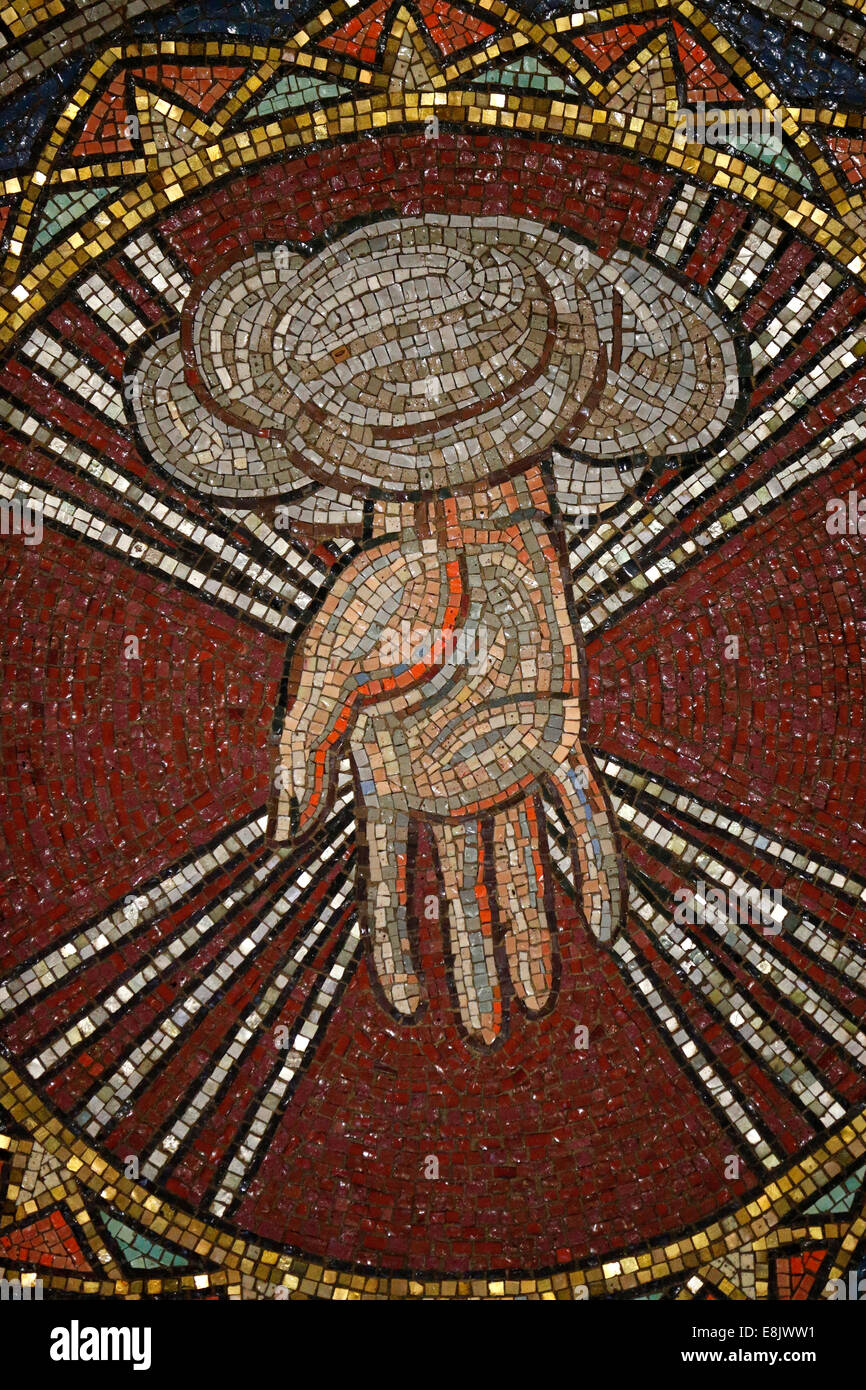 St Barth's church. God The Creator, by Hildreth Meiere. - Stock Image