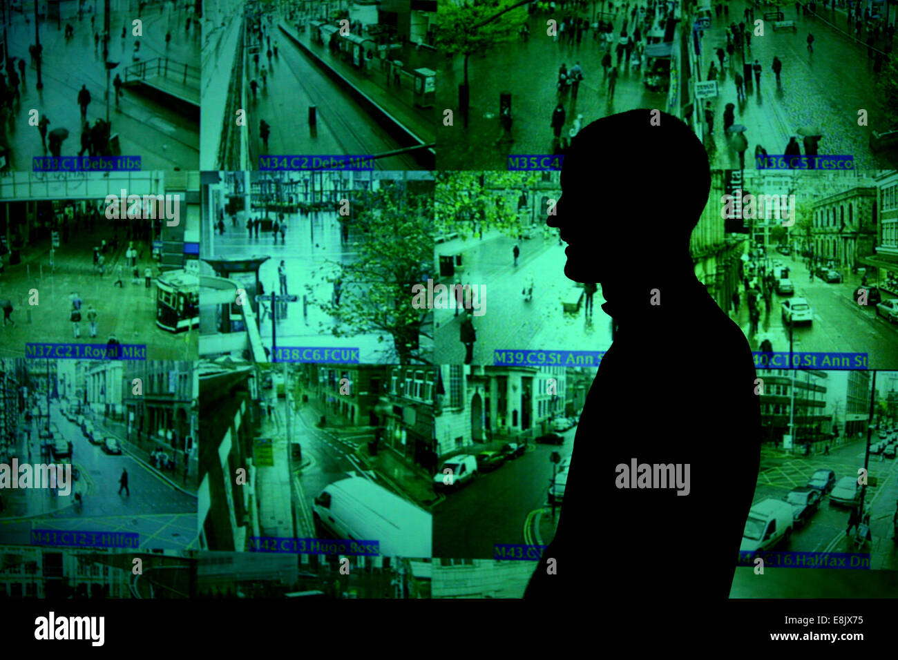 Operation Van Guard.  Inside the CCTV control room, Arndale Building, High Street. Picture: Chris Bull - Stock Image