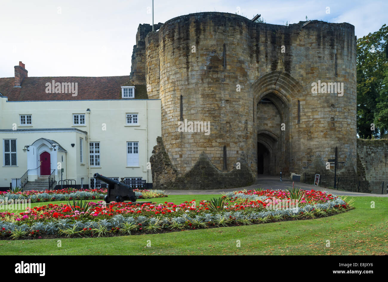 Tonbridge Castle in Kent - Stock Image
