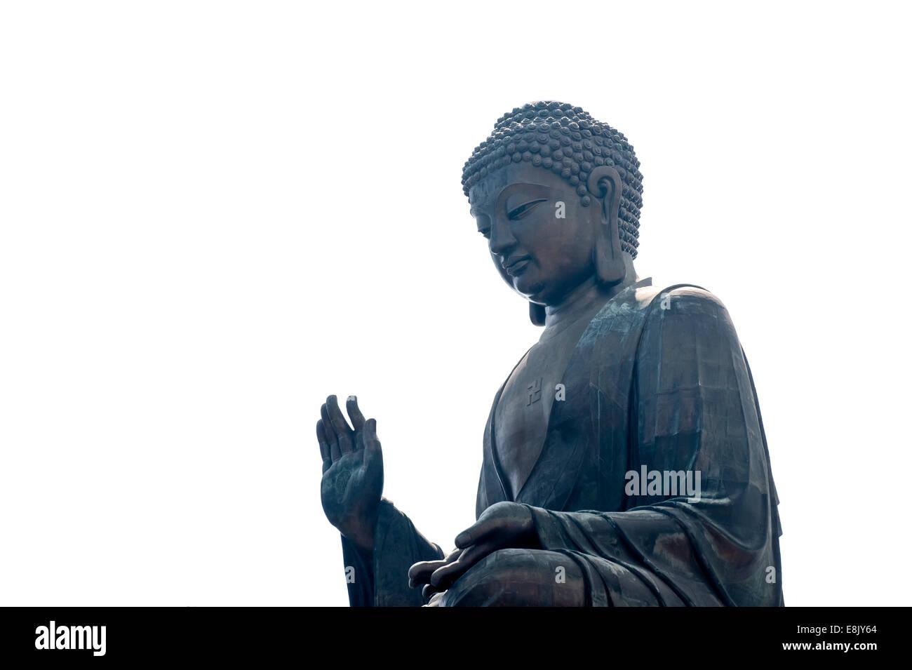 Giant Buddha Statue, Po Lin Monastery, Lantau, Hong Kong, China Stock Photo