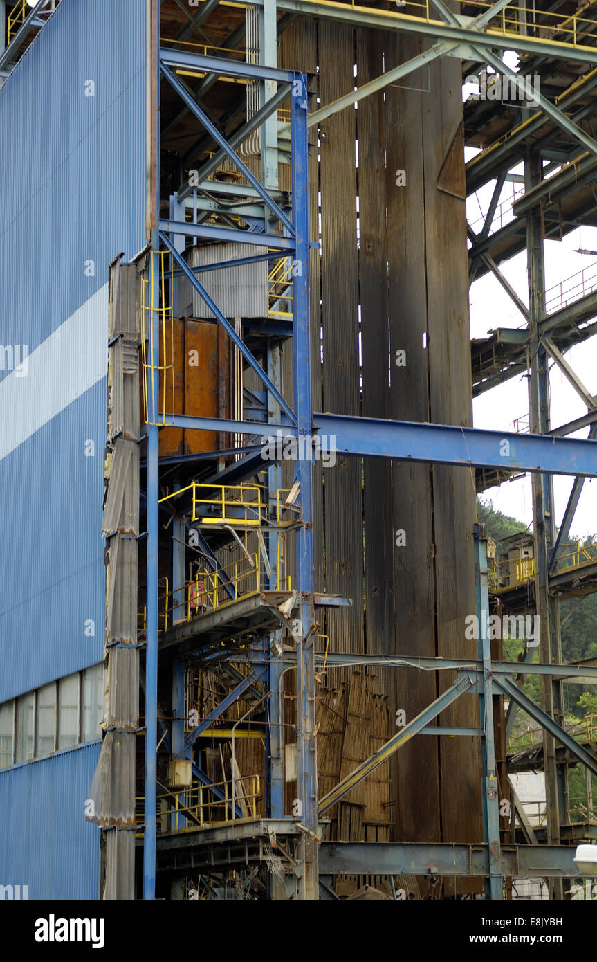 thermal plant decommissioning - Stock Image