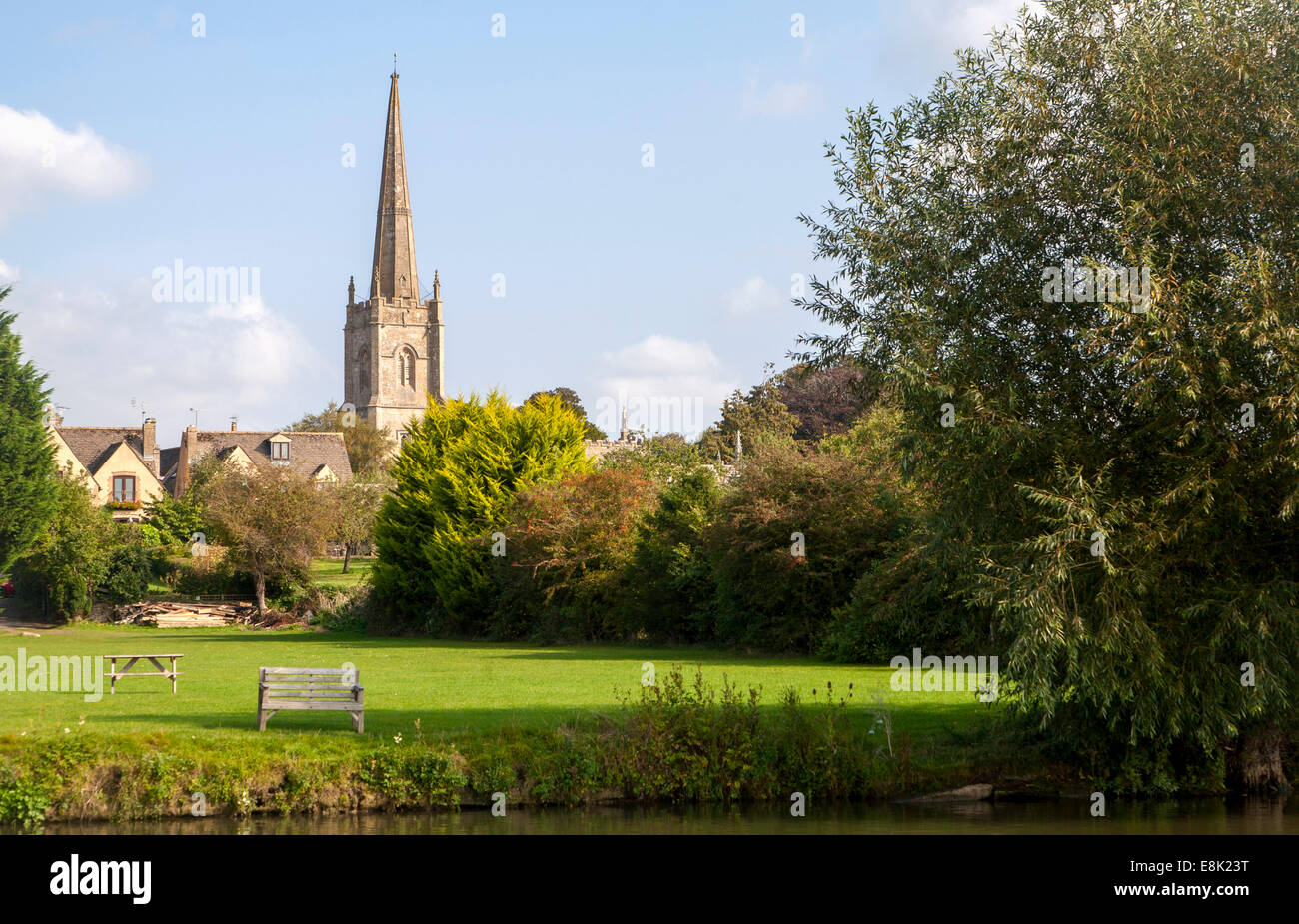 St Lawrence Church, Lechlade on Thames, Gloucestershire, England, UK - Stock Image