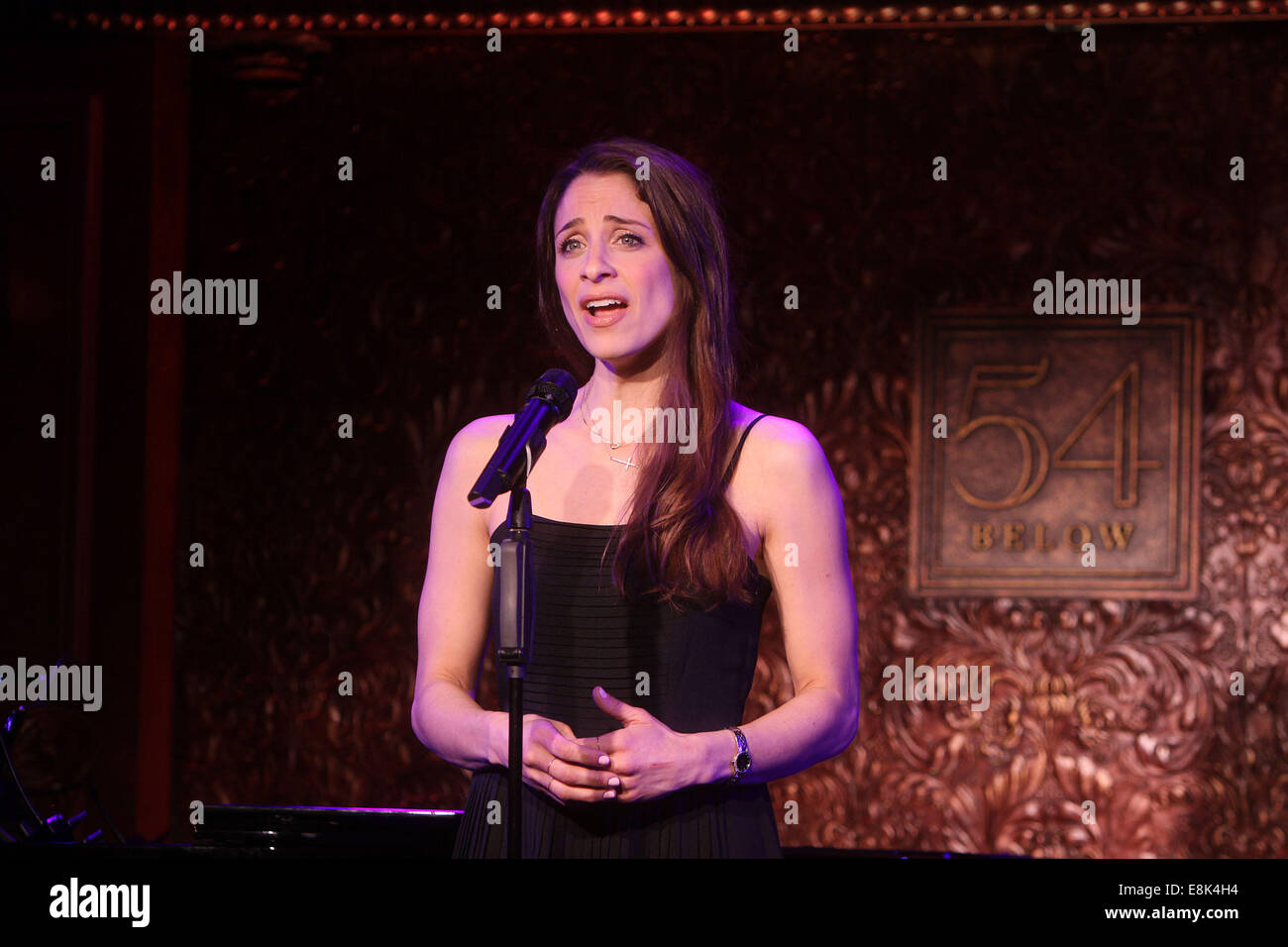 Press Preview of Concerts at 54 Below nightclub.  Featuring: Elena Shaddow Where: New York, New York, United States - Stock Image