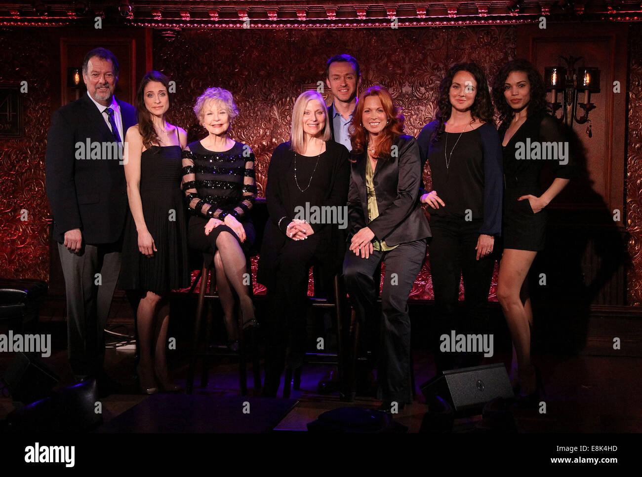 Press Preview of Concerts at 54 Below nightclub.  Featuring: Eric Michael Gillett,Elena Shaddow,Penny Fuller,Roslyn - Stock Image