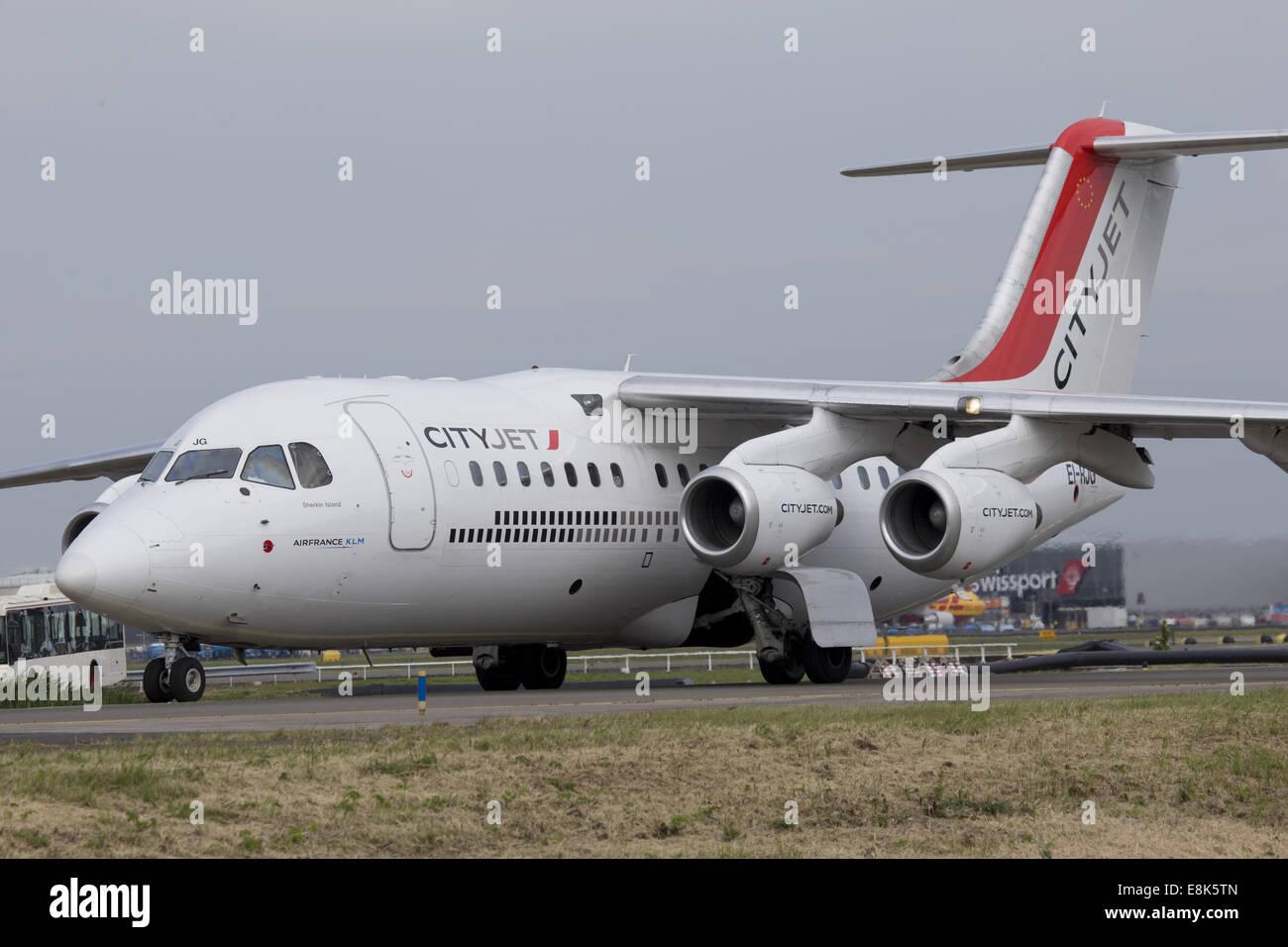 CItyjet RJ85 Jet - Stock Image