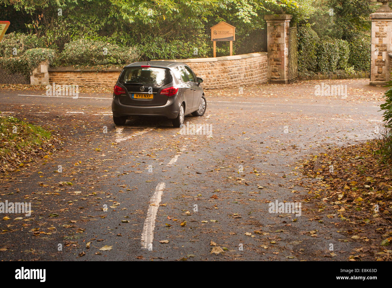 Leicestershire Rural Roads. 9th October, 2014.  New figures from the Department for Transport show that on average Stock Photo