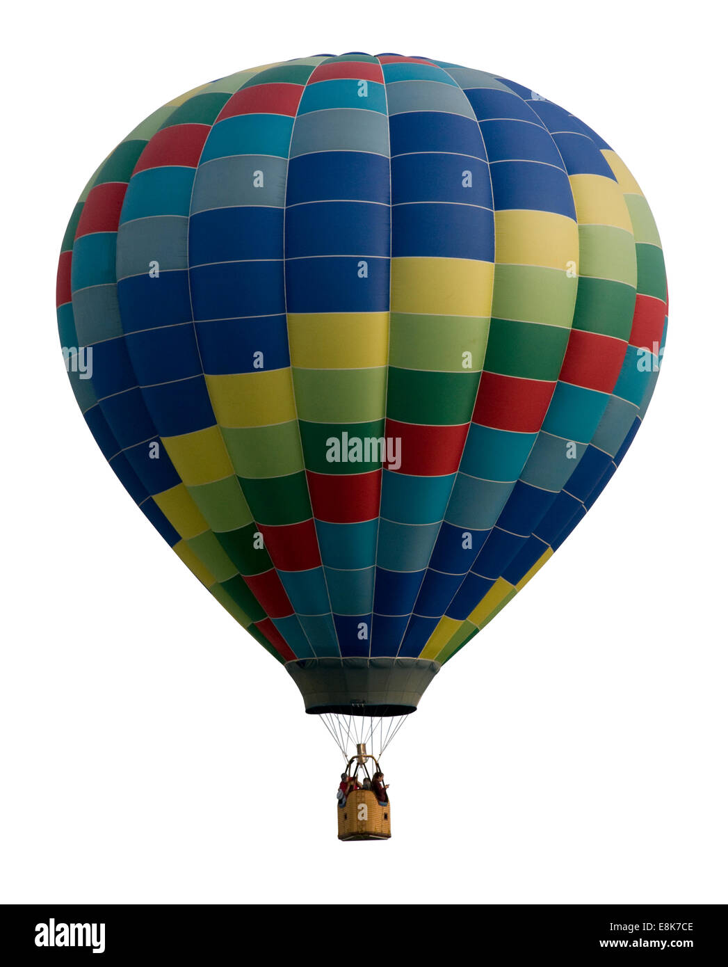 Colorful Hot Air Balloon Against White Stock Photo