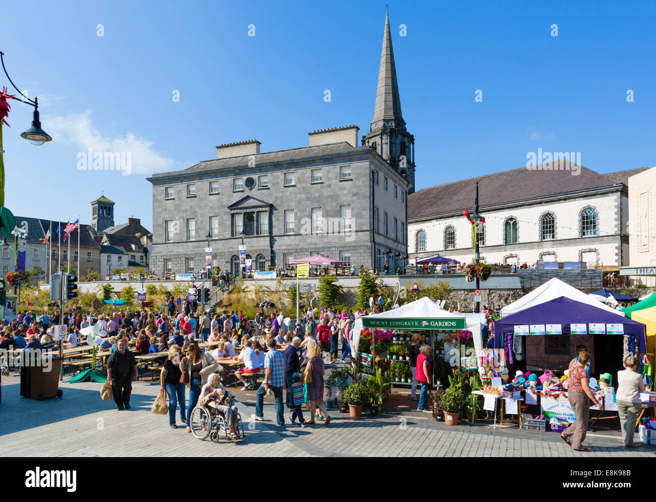 Parnell Street looking towards Bishop's Palace during Harvest Festival in Sept 2014, Waterford City, County - Stock Image