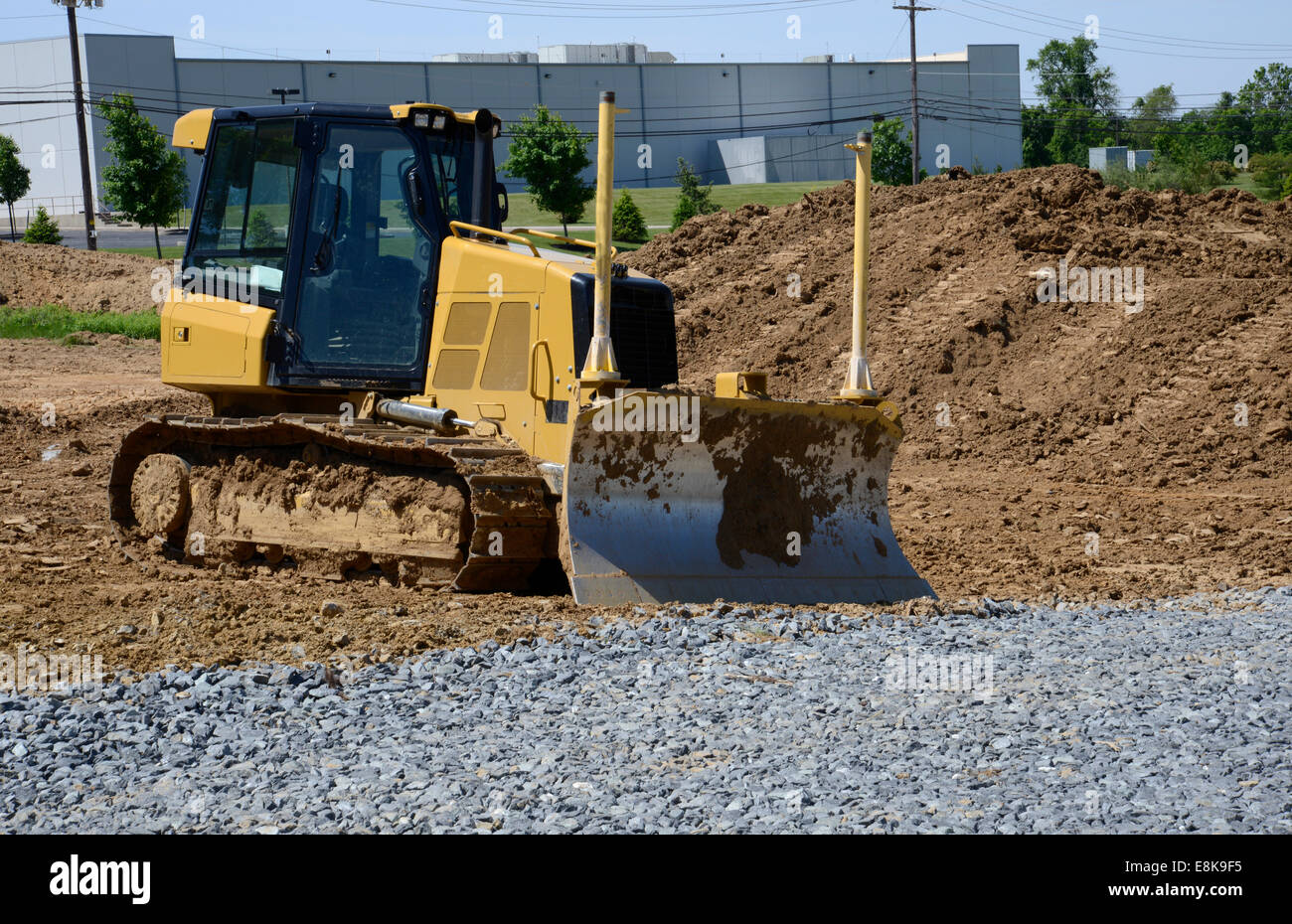 large bulldozer at a construction site - Stock Image