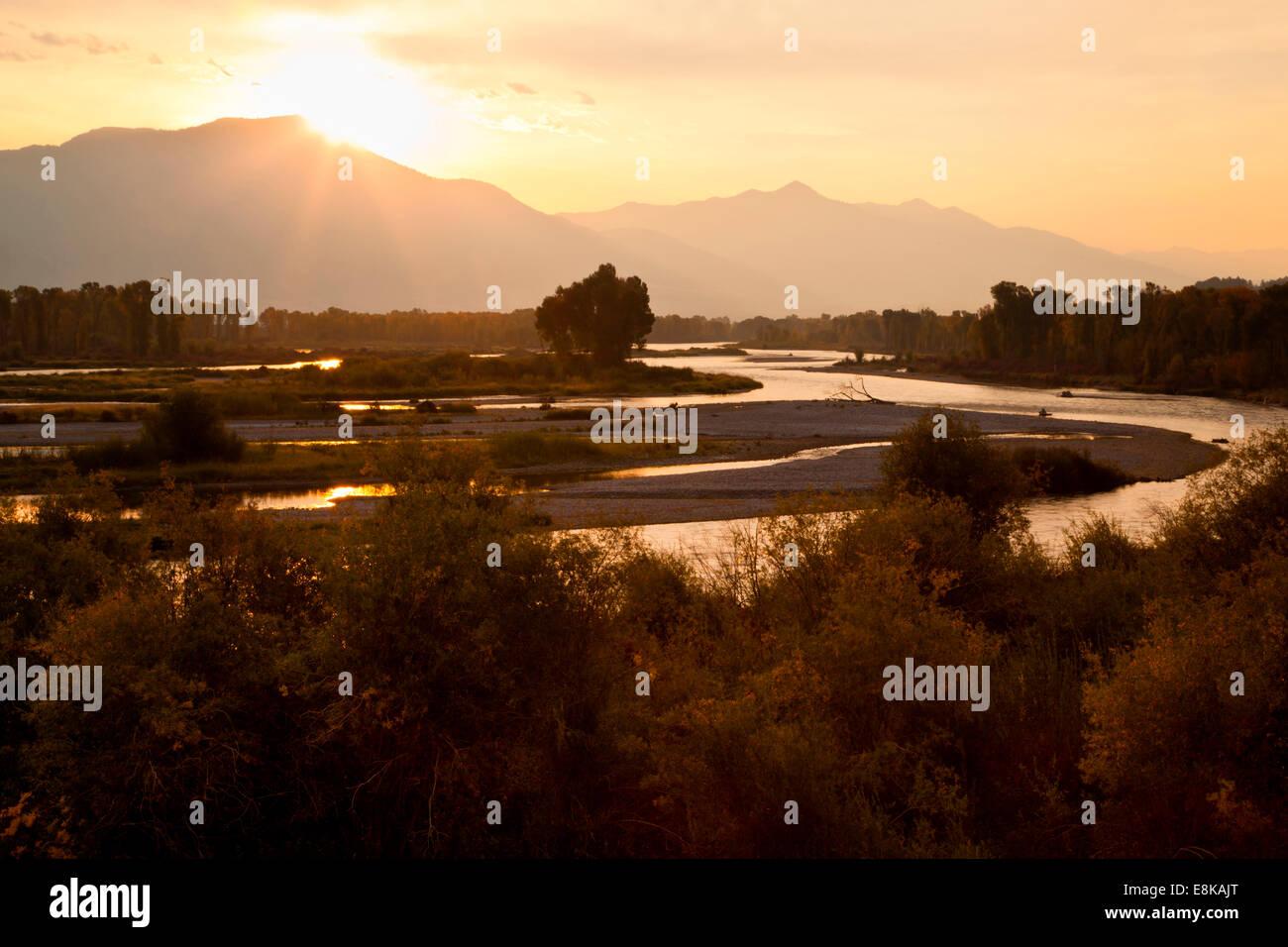 Snake River in Swan Valley, Idaho, USA. - Stock Image