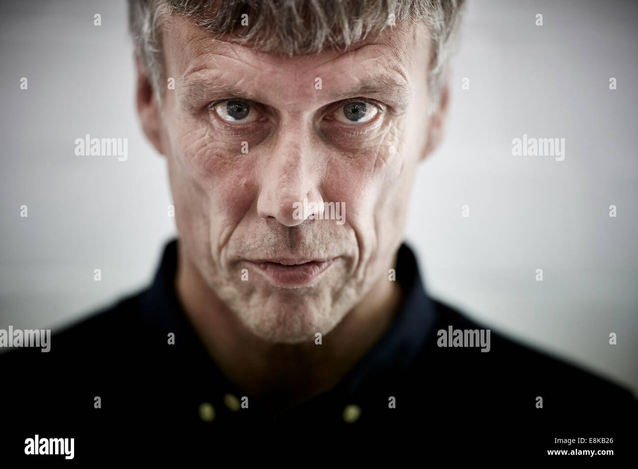 Happy Mondays dancer Bez (Mark Berry) has his head 3D scanned for a project that's part of Manchester Science - Stock Image