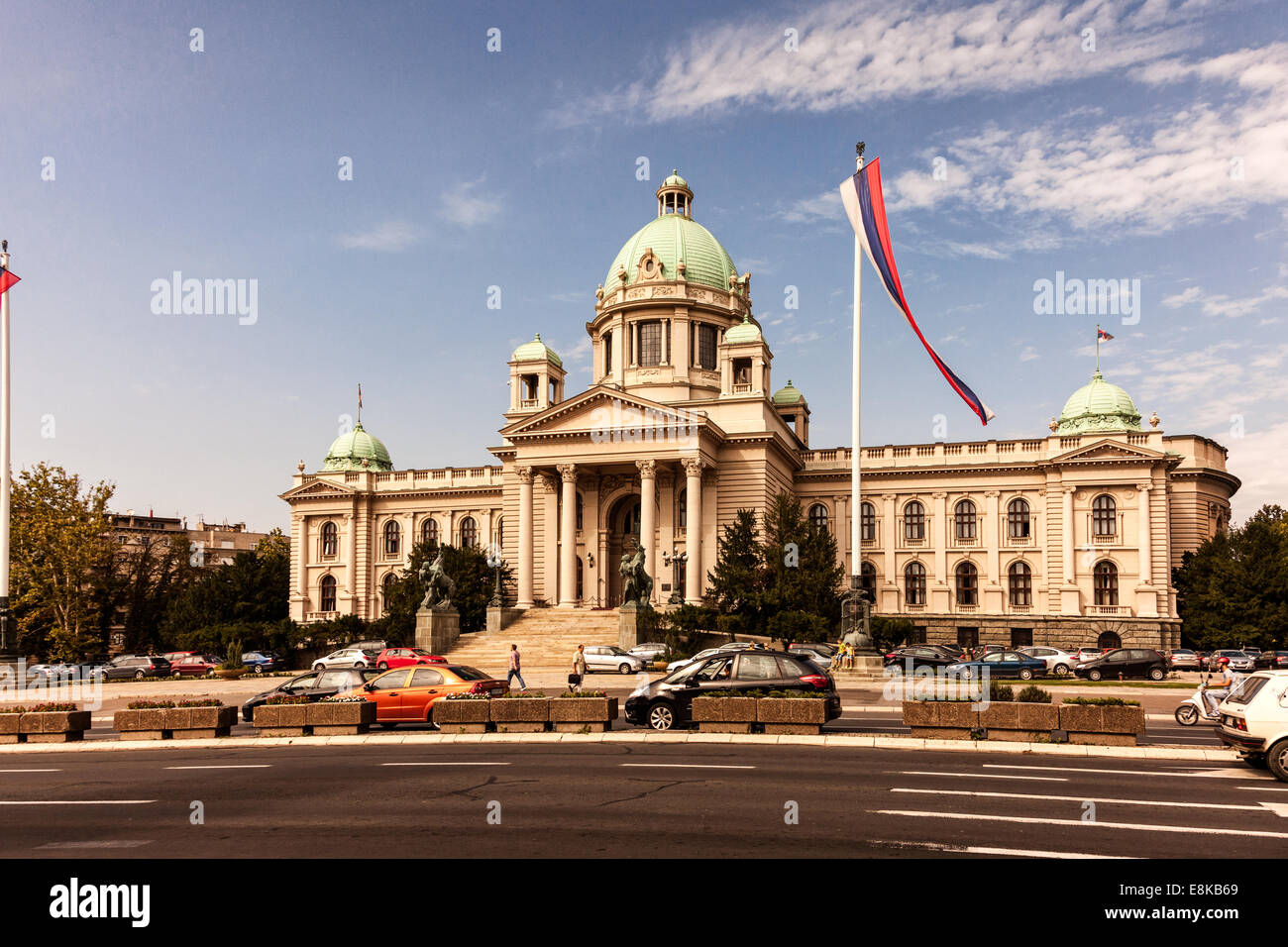 National Assembly of the Republic of Serbia,Belgrade,Serbia - Stock Image