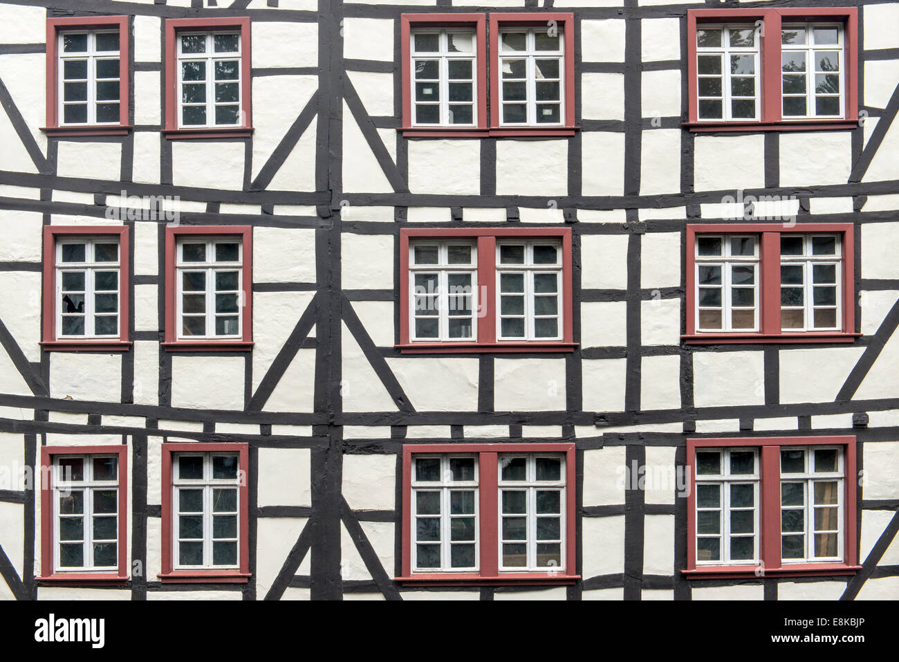 Monschau, half-timbered houses nearly unchanged for 300 years, Germany - Stock Image