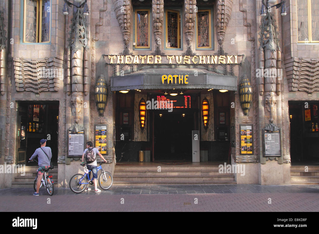 Theater Tuschinski Pathe Reguliersbreestr Amsterdam Holland - Stock Image