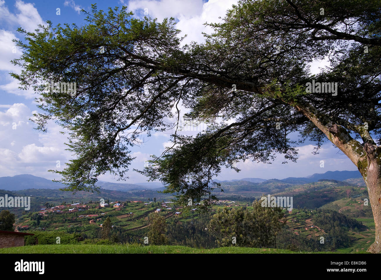 RWANDA, NYAMAGABE: The area here is very hilly, green and rural. Stock Photo