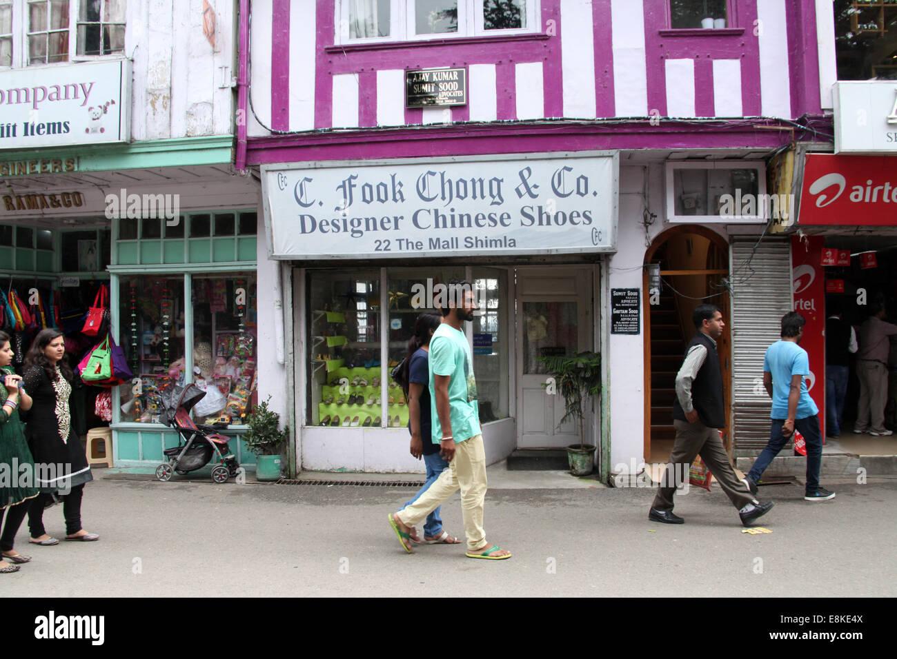 The Mall Road at Shimla in Himachal Pradesh - Stock Image