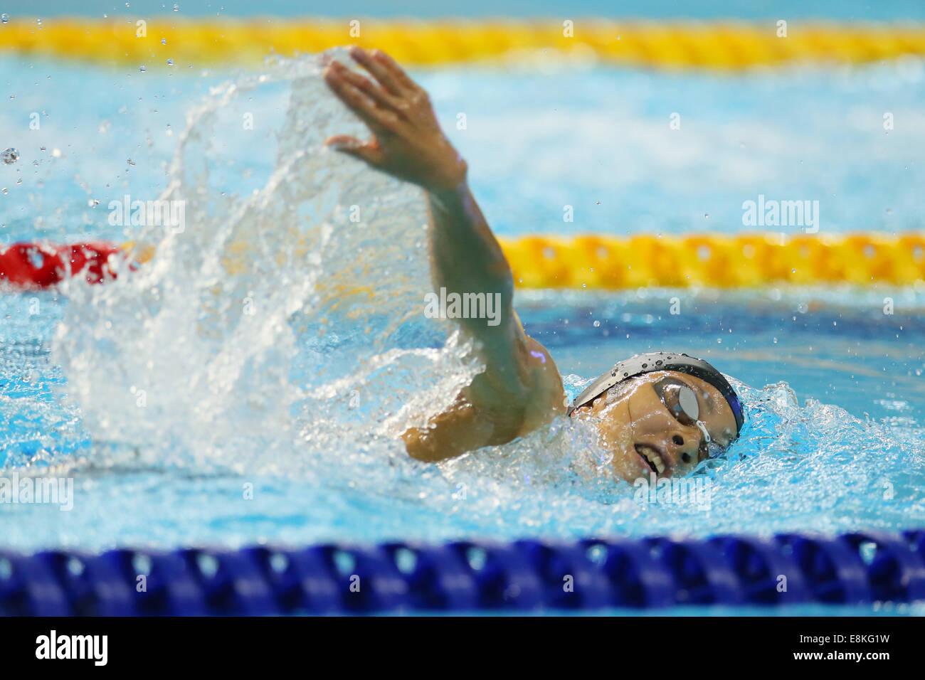 Shino Yamanaka (JPN),  OCTOBOR 2, 2014 - Modern Pentathlon :  Women's Individual / Team  Swimming  at Dream - Stock Image