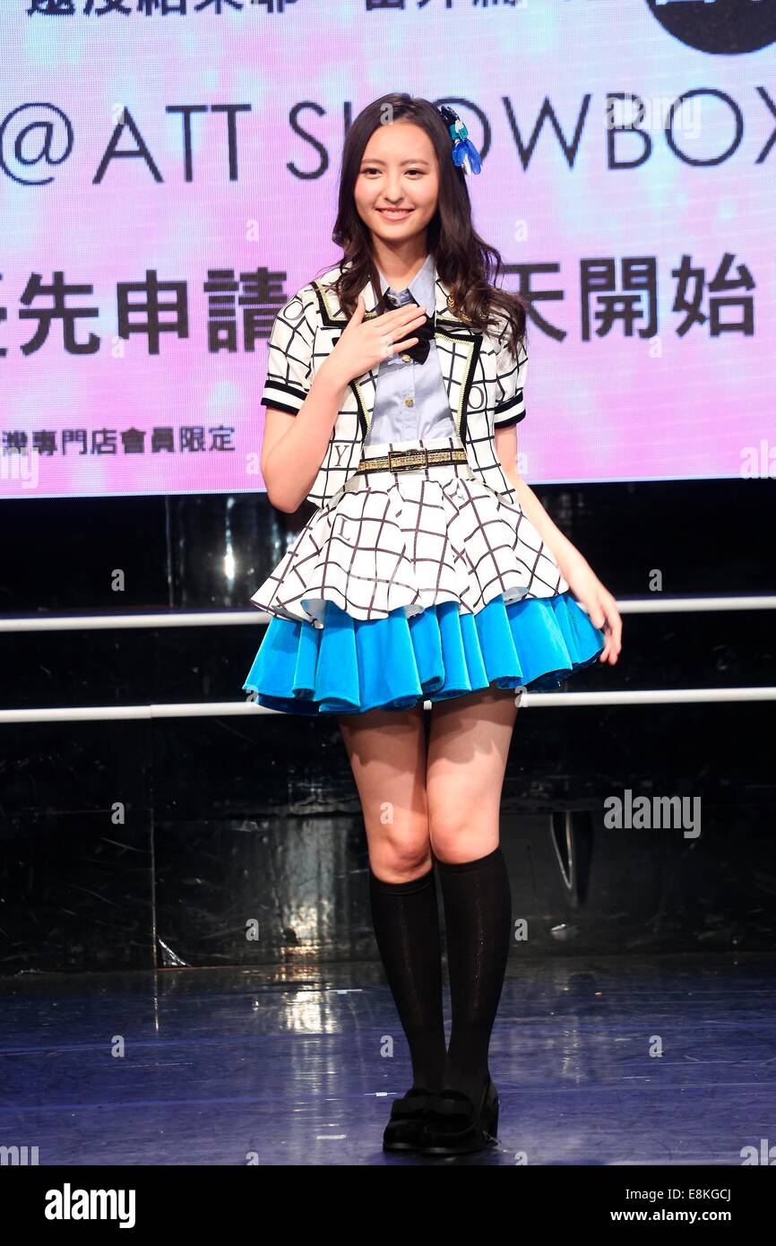 Three members of Japanese idol group HKT48 come to Taipei