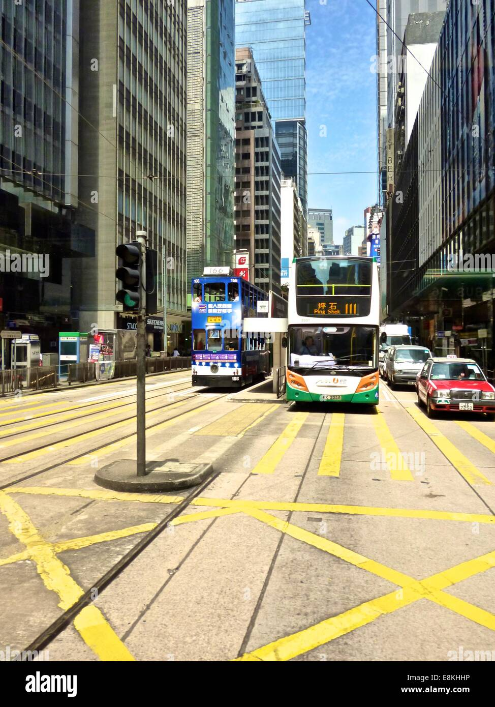 Busy street in Hong Kong - Stock Image