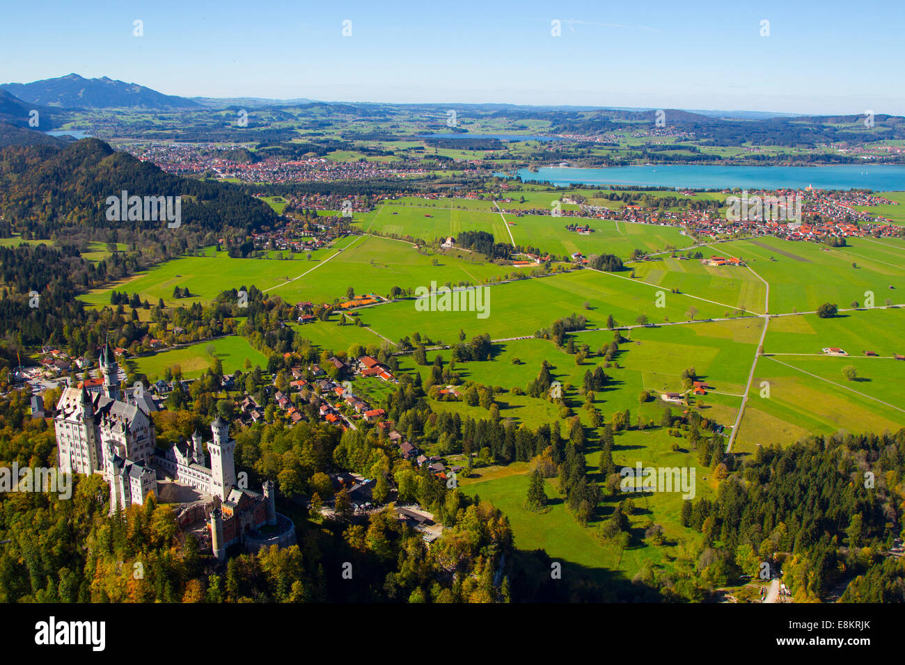 FUSSEN, GERMANY - October 09:  Schloss Neuschwanstein, a castle in Fussen Germany, on the 09 October 2014 (Photo - Stock Image