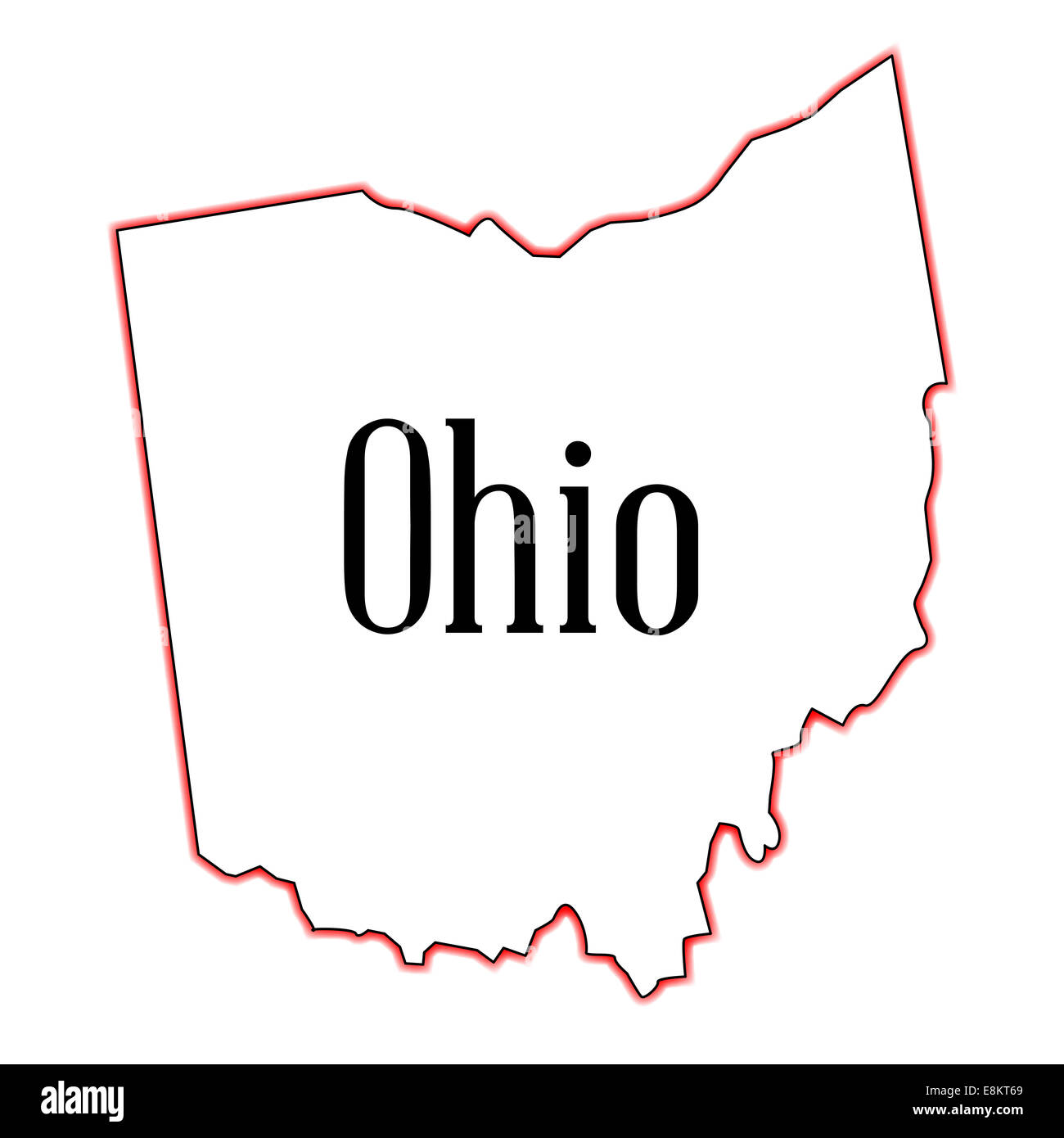 Outline Map Of Ohio.Outline Map Of The State Of Ohio Stock Photo 74194801 Alamy
