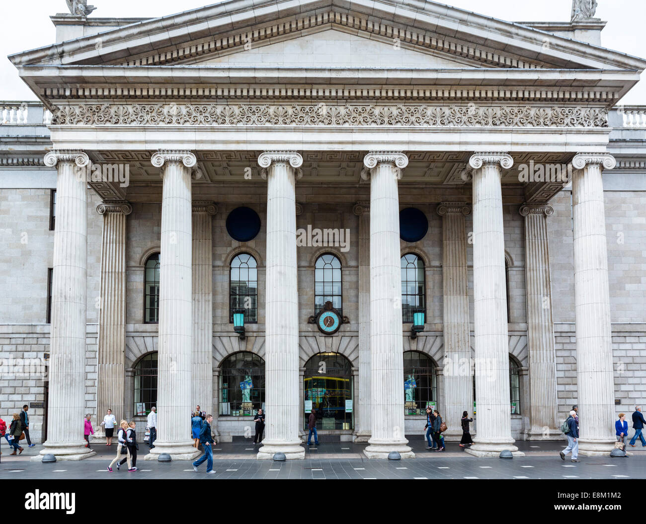 General Post Office on O'Connell Street, republican headquarters during Easter Uprising of 1916, Dublin, Republic - Stock Image