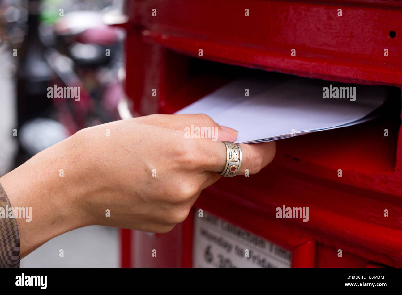 posting letters - Stock Image