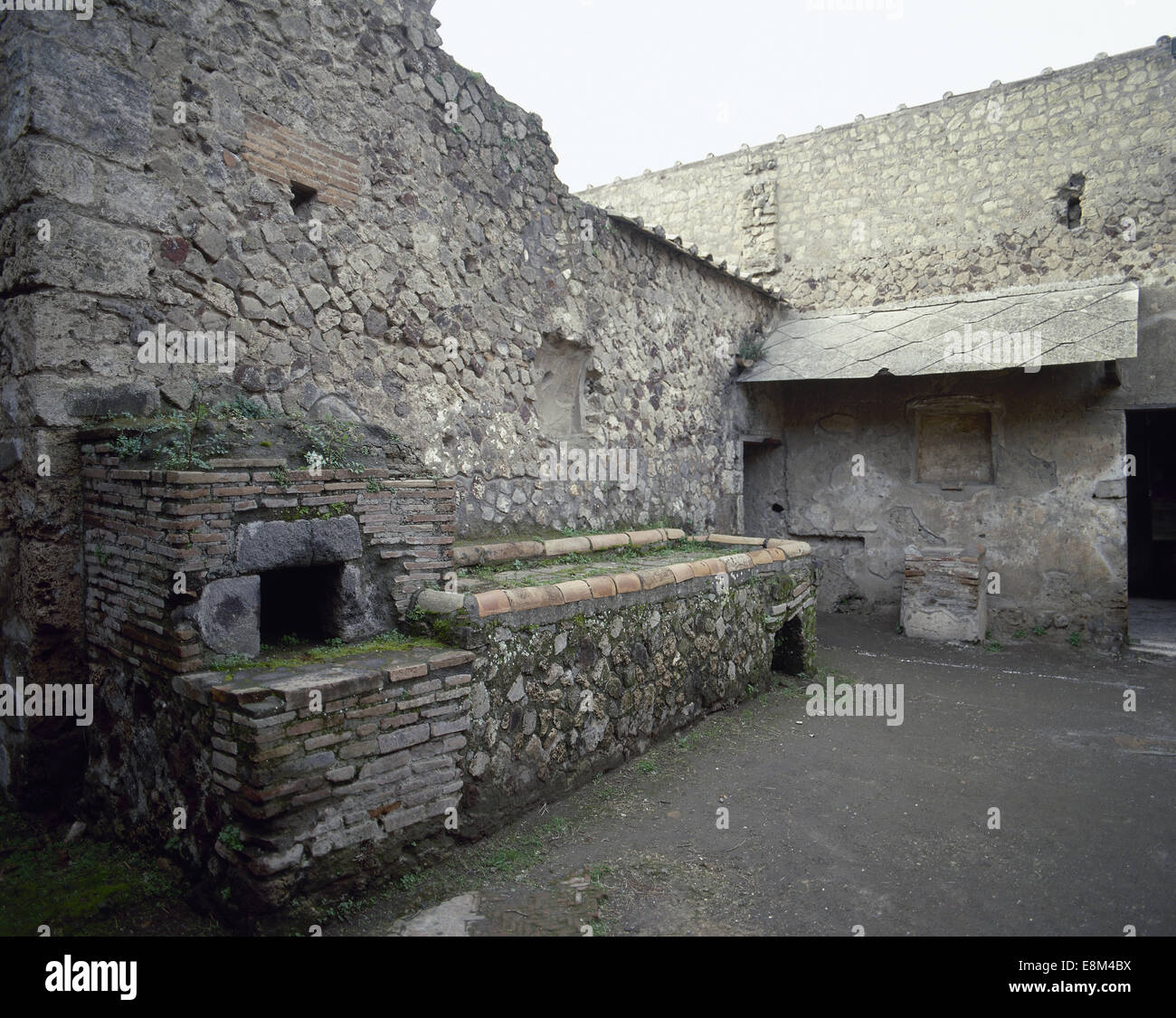 Italy. Pompeii. Villa of the Mysteries. Built in the 2nd BC and reformed Imperial era. - Stock Image