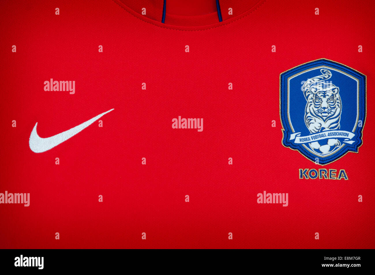 4c6fac76ad7 Close up of the Korea Republic (South Korea) national football team kit -  Stock