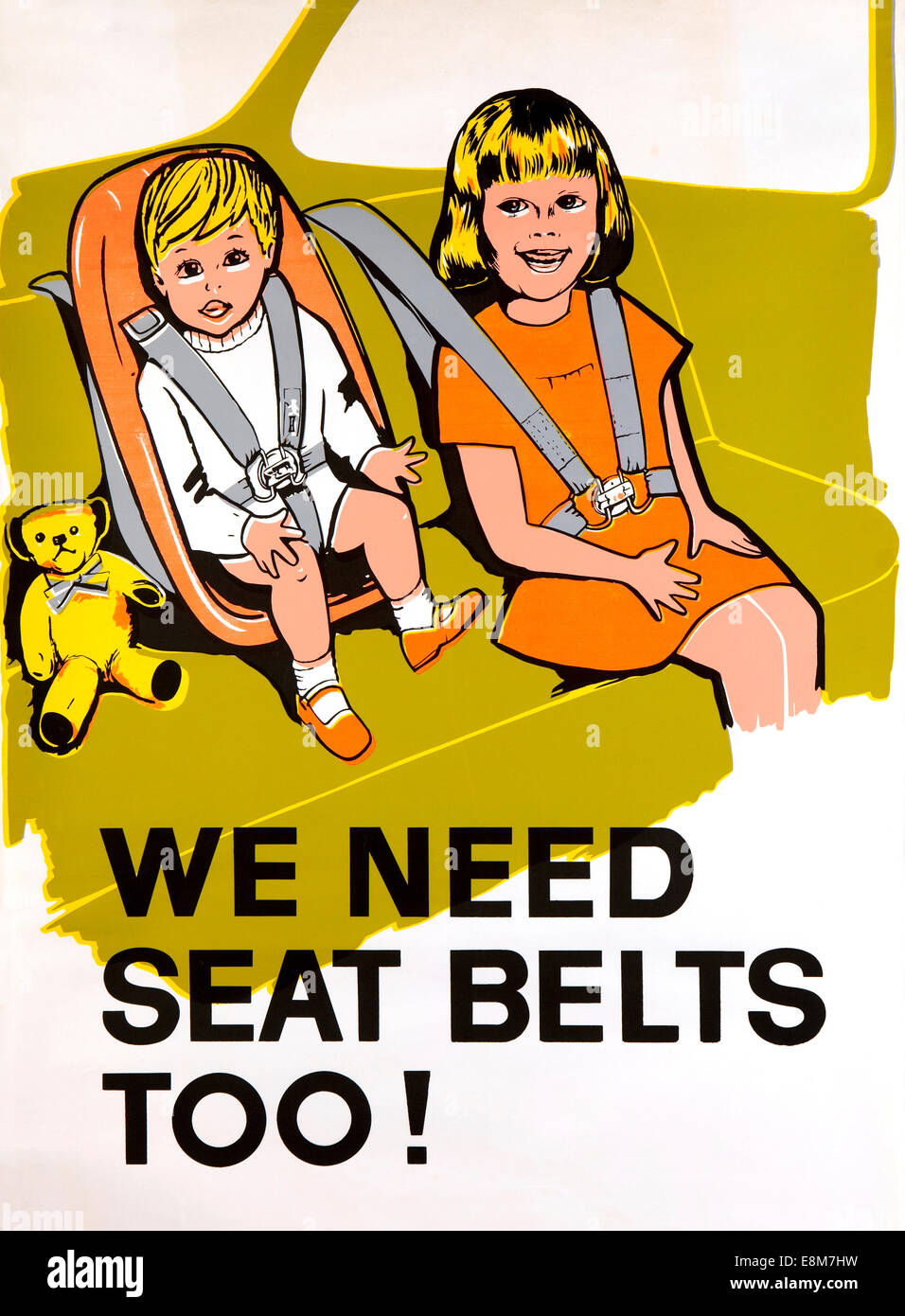 Road Safety 1960s Early Child Seat Belt Road Safety Poster We Need Stock Photo Alamy