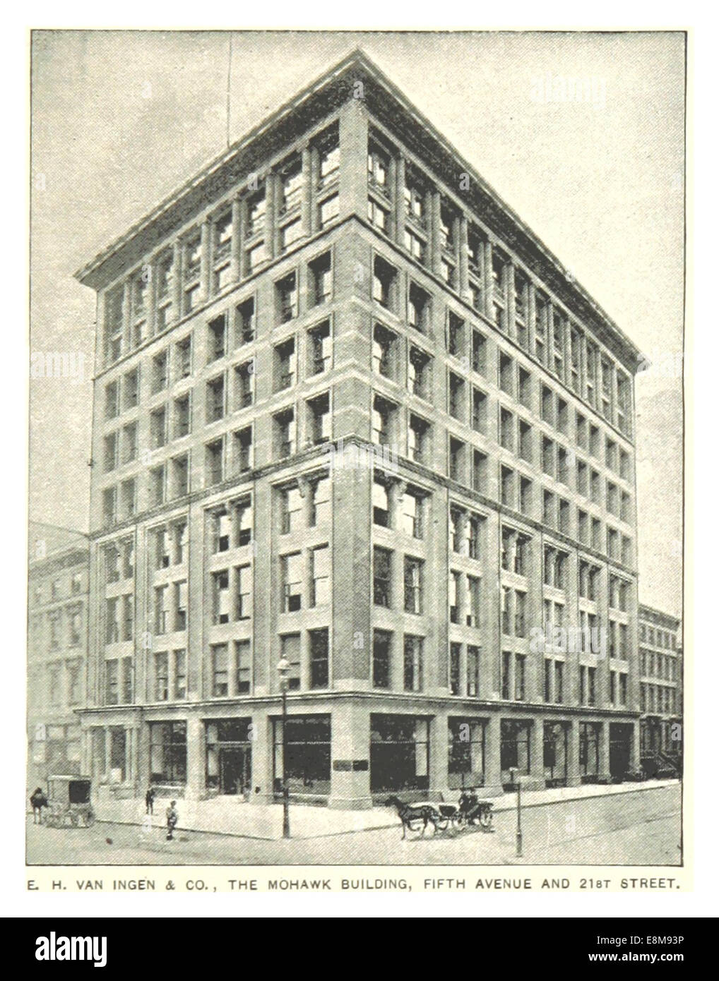 (King1893NYC) pg893 THE MOHAWK BUILDING, FIFTH AVENUE AND 21ST STREET - Stock Image