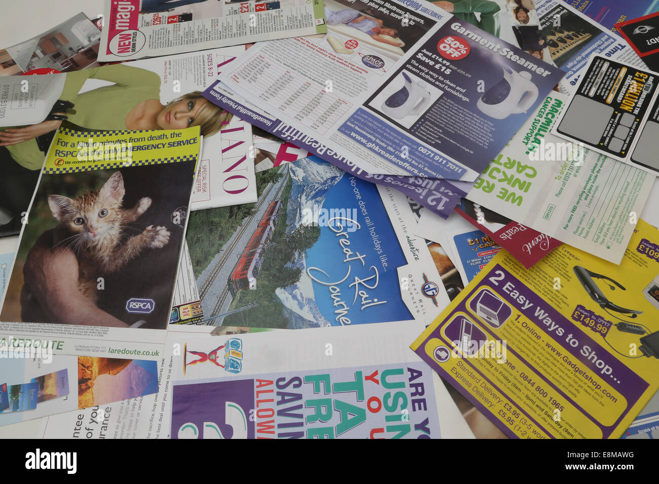Collection Of Leaflets From Magazines - Stock Image