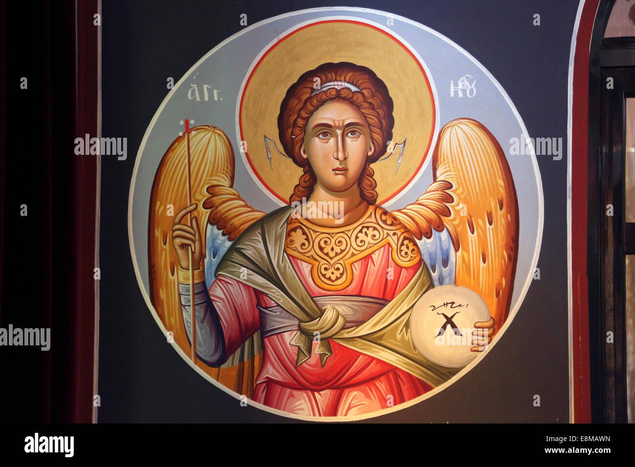 Halkidha Evia Greece Church of Saint Marina Archangel Gabriel - Stock Image