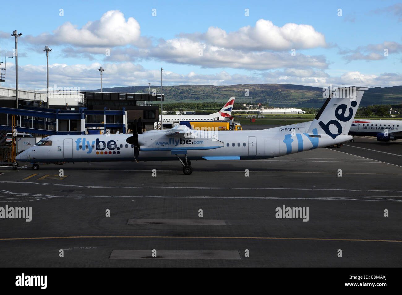 Flybe Aeroplane At Gatwick Airport Surrey England - Stock Image