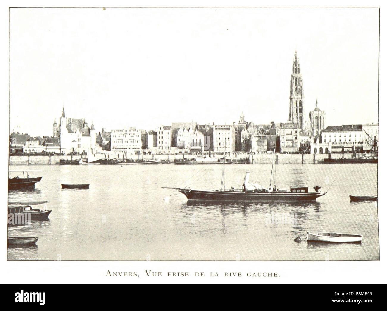 018 Anvers, vue prise de la rive gauche - Stock Image