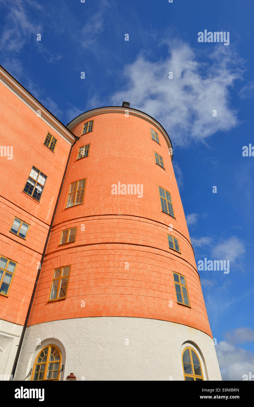 Uppsala Castle Tower. Throughout much of its early history, castle played major role in history of Sweden - Stock Image