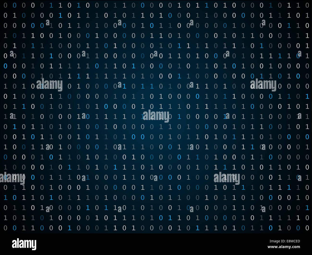 Blink binary code screen black - Stock Image