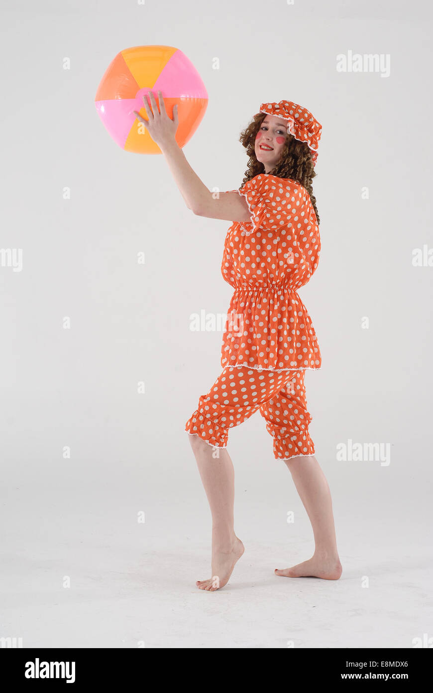 woman in fancy dress comedy costume as a victorian bather in old fashioned swimming costume with & Fancy Dress Ball Stock Photos u0026 Fancy Dress Ball Stock Images - Page ...