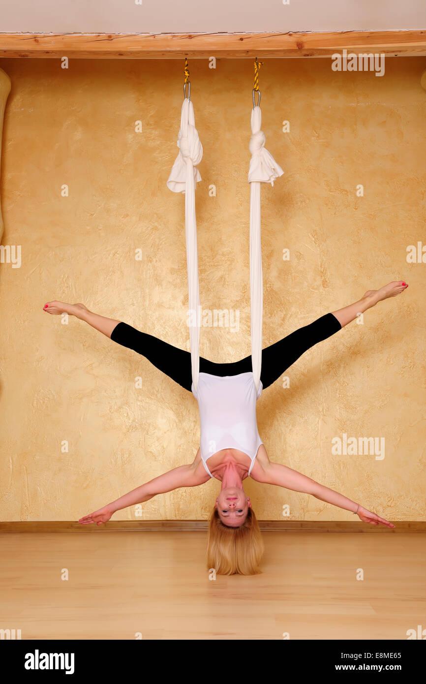 Antigravity Yoga Stock Photos Amp Antigravity Yoga Stock