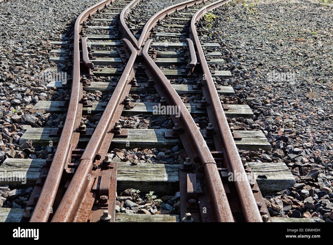 Train tracks, Germany, Europe, Stock Photo