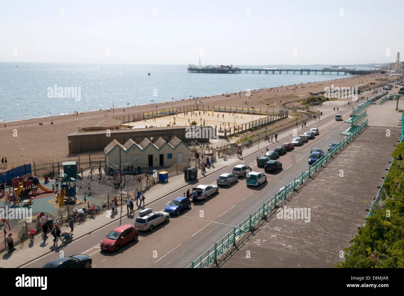 madeira drive brighton beach uk beaches - Stock Image
